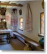Interior Detail Of Typical Ukrainian Antique House Metal Print