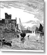 Isle Of Man Peel, 1885 Metal Print