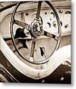Jaguar Steering Wheel Metal Print