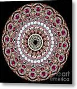 Kaleidoscope Colorful Jeweled Rhinestones Metal Print