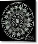 Kaleidoscope Ernst Haeckl Sea Life Series Black And White Set On Metal Print