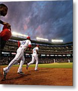 Kansas City Royals V Texas Rangers Metal Print