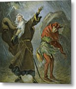 King Lear, 19th Century Metal Print