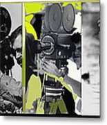 3 Kvoa Tv News Cinematographers Frank Sharkey Dave Sonderegger Jackie Sharkey Tucson Az Collage 2011 Metal Print