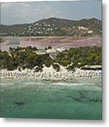 Las Salinas Beach, Ibiza Metal Print