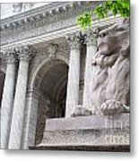 Lion New York Public Library Metal Print