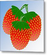 3 Little Berries Are We Metal Print by Andee Design
