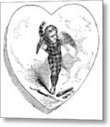 Love Lyrics And Valentine Verses, 1875 Metal Print