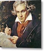 Ludwig Van Beethoven (1770-1827) Metal Print