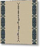 Macateer Written In Ogham Metal Print