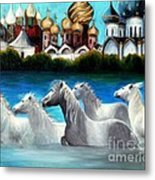 Magical Horses Metal Print