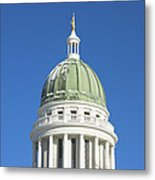 Maine State Capitol Building In Augusta Metal Print