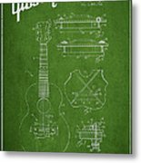 Mccarty Gibson Stringed Instrument Patent Drawing From 1969 - Green Metal Print