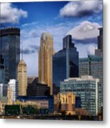 Minneapolis Skyline Metal Print