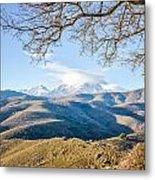 Monte Cinto From Col De San Colombano In Corsica Metal Print