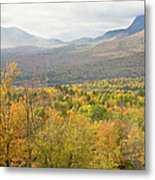 Mountains In Fall Mount Blue State Park Weld Maine Metal Print