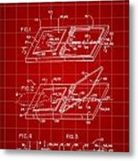 Mouse Trap Patent - Red Metal Print