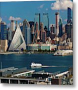 New York City Skyline As Seen Metal Print