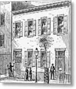 New York: Dispensary, 1868 Metal Print