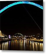 Newcastle Quayside And Sage Gateshead Metal Print