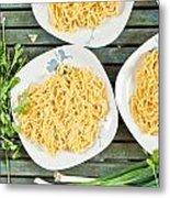Noodles Metal Print by Tom Gowanlock