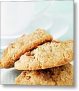 Oatmeal Cookies Metal Print