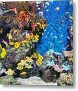 Ocean Aquarium In Shanghai Metal Print