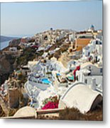 Oia Village Santorini Greece Metal Print
