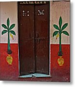 Old Doors India, Varanasi Metal Print