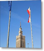 Palace Of Culture And Science In Warsaw Metal Print