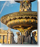 Paris Fountain Metal Print