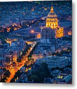 Paris Overhead Metal Print
