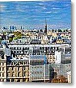 Paris Panorama France Metal Print
