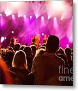 People On Music Concert Metal Print