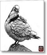 Pink Pigeon Pop Art 5516 - Fs - Bb -  Modern Animal Artist James Metal Print