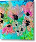 Poppies In Situ Metal Print
