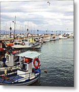 Port Of Aegina Metal Print