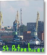 Port Peterburg Metal Print