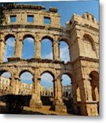 Pula, Istria County, Croatia. The Roman Metal Print