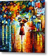 Rain Princess Metal Print by Leonid Afremov