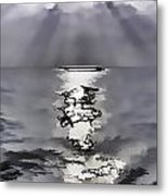 Rays Of Light Shimering Over The Waters Metal Print