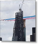 Red Arrows Flypast Over The City Of London Metal Print