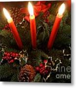 3 Red Candles Metal Print