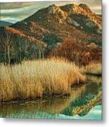 Reginu River And Punta Di Paraso Metal Print