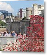 Remembrance Poppies At Tower Of London Metal Print