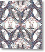 Retro Ornamental Subtraction Of Cube And Sphere Metal Print