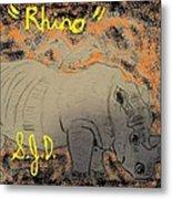 Rhino Metal Print by Joe Dillon