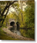Riverbank Reflections Metal Print