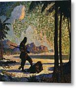 Robinson Crusoe, 1920 Metal Print