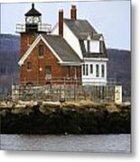 Rockland Breakwater Lighthouse Metal Print